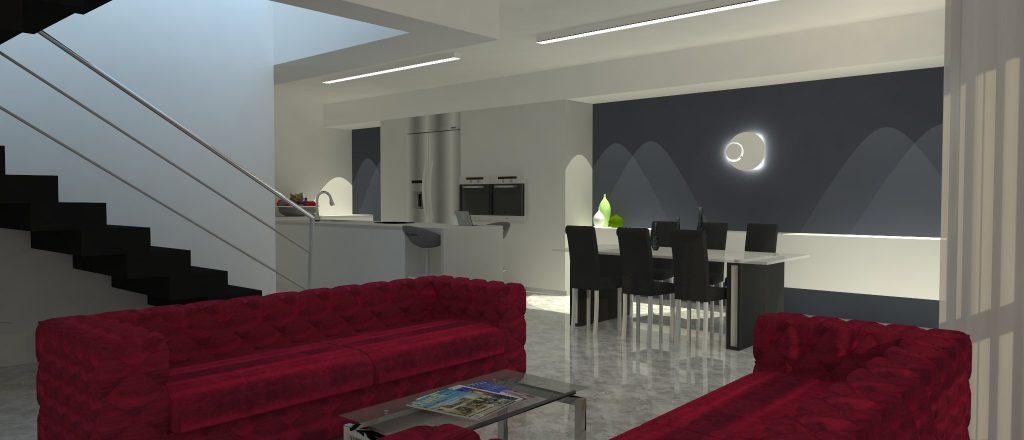 הדמיה תלת מימדית - תכנון ועיצוב פנים לבית ברמלה