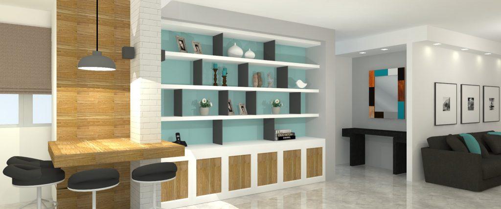הדמיה תלת מימד - תכנון ועיצוב פנים לדירה בראשון לציון - דואט - תכנון, עיצוב פנים וניהול שיפוצים