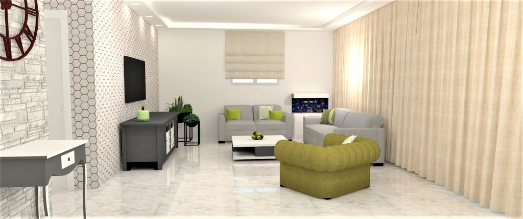 הדמיה תלת מימד - תכנון ועיצוב פנים לדירה בכפר סבא - דואט - תכנון, עיצוב פנים וניהול שיפוצים